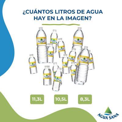 Juega con Agua Sana | Descubre cuántos litros de agua hay