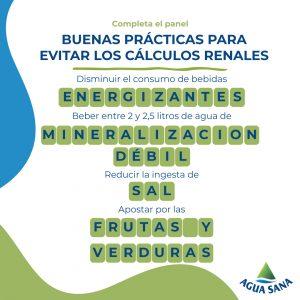Juega con Agua Sana | Solución cálculos renales