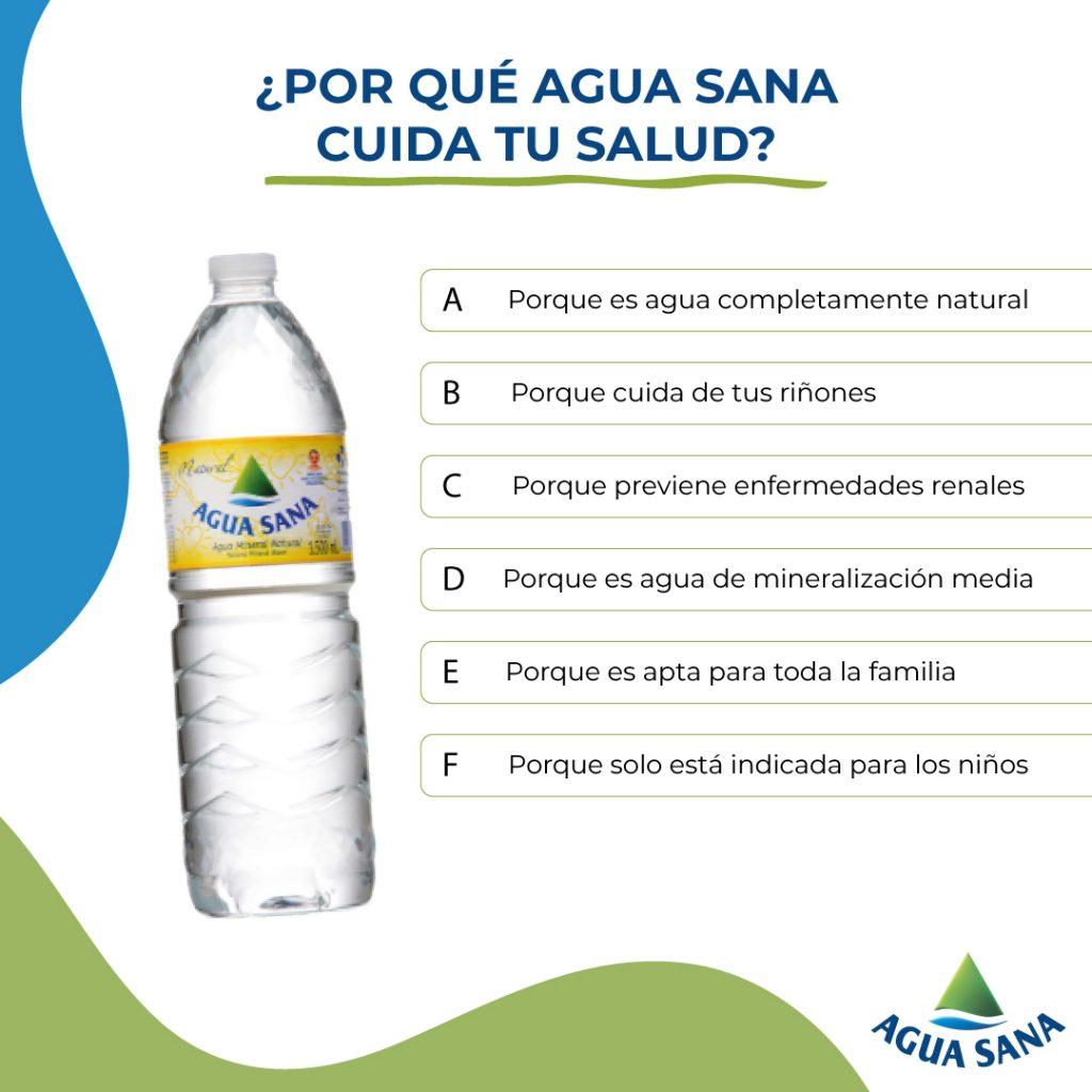 Descubre por qué Agua Sana cuida tu salud | Juego