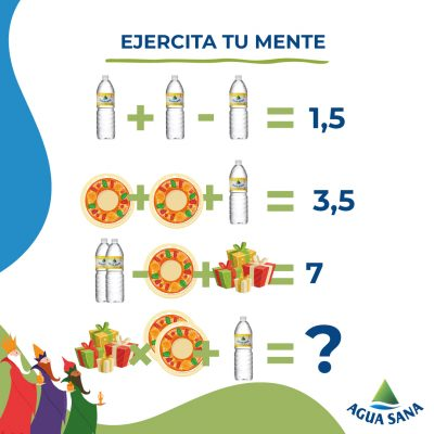 Resuelve la ecuación de fin de año | Agua Sana