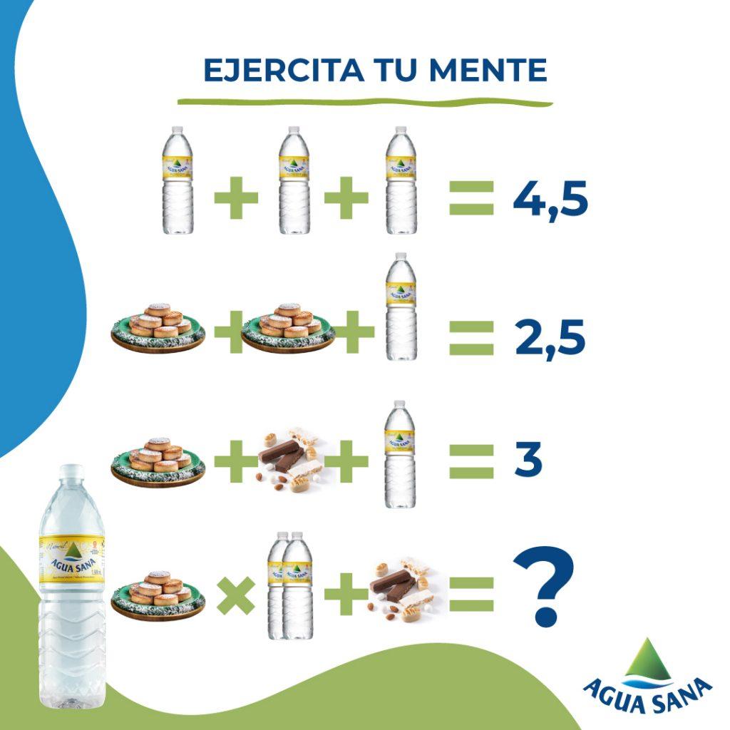 Agua Sana en Navidad | Resuelve la ecuación