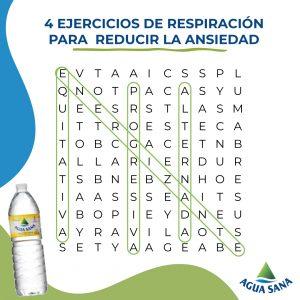 Sopa de letras: ejercicios respiración | solución