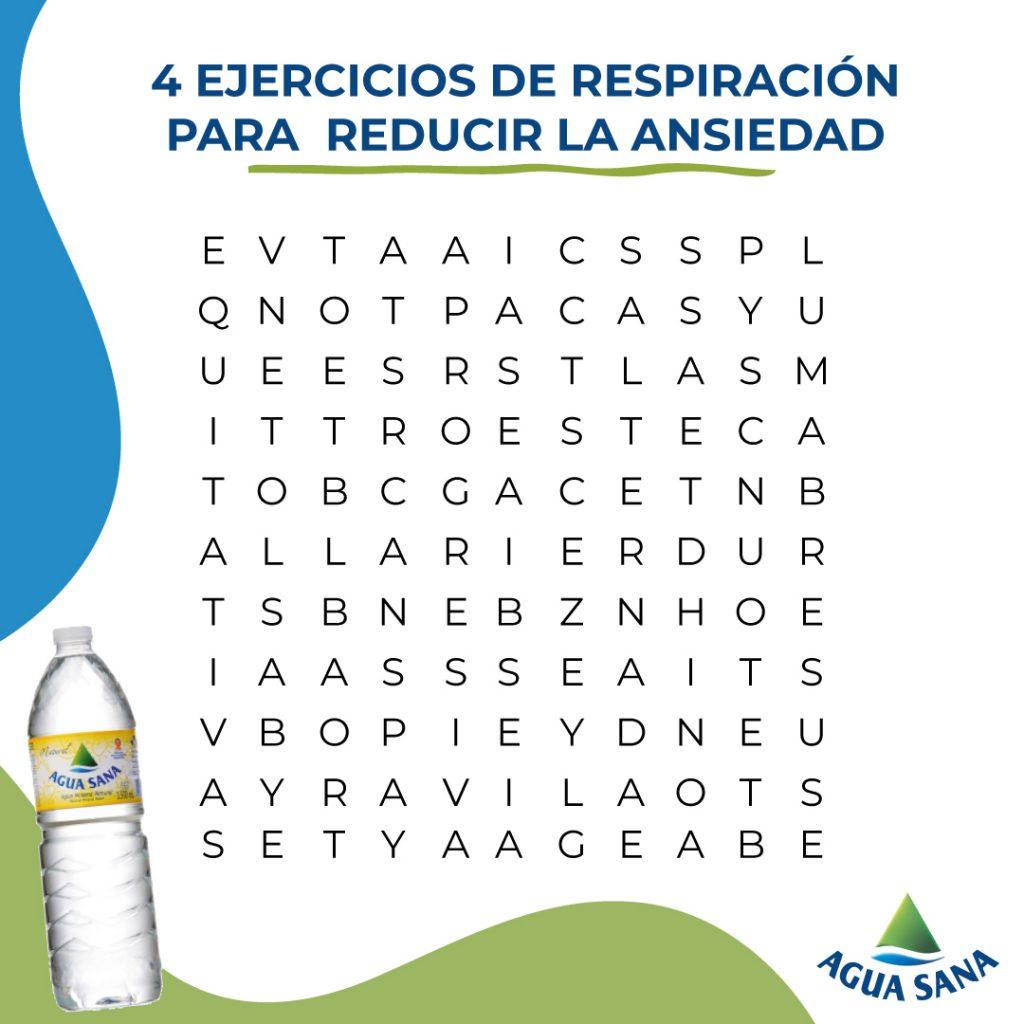 Sopa de letras: ejercicios de respiración