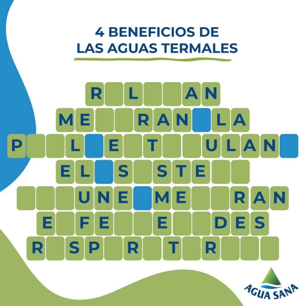 Resuelve el panel sobre aguas termales | Agua Sana