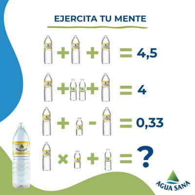 Resuelve la ecuación   Juega con Agua Sana