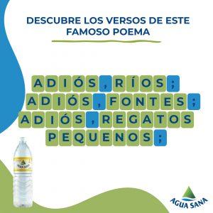 Resolvemos el panel de Agua Sana con los versos de Rosalía.
