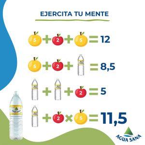 La solución a la ecuación de frutas de Agua Sana