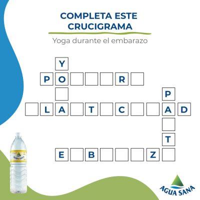 Resuelve el nuevo juego de Agua Sana relacionado con la práctica de yoga durante el embarazo