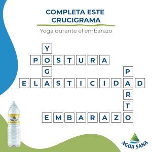 Así se resuelve el crucigrama de Agua Sana sobre practicar yoga