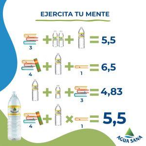 La solución a la ecuación de Agua Sana sobre la hidratación en el estudio es 5,5