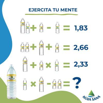 Ejercita tu mente con la nueva ecuación de Agua Sana