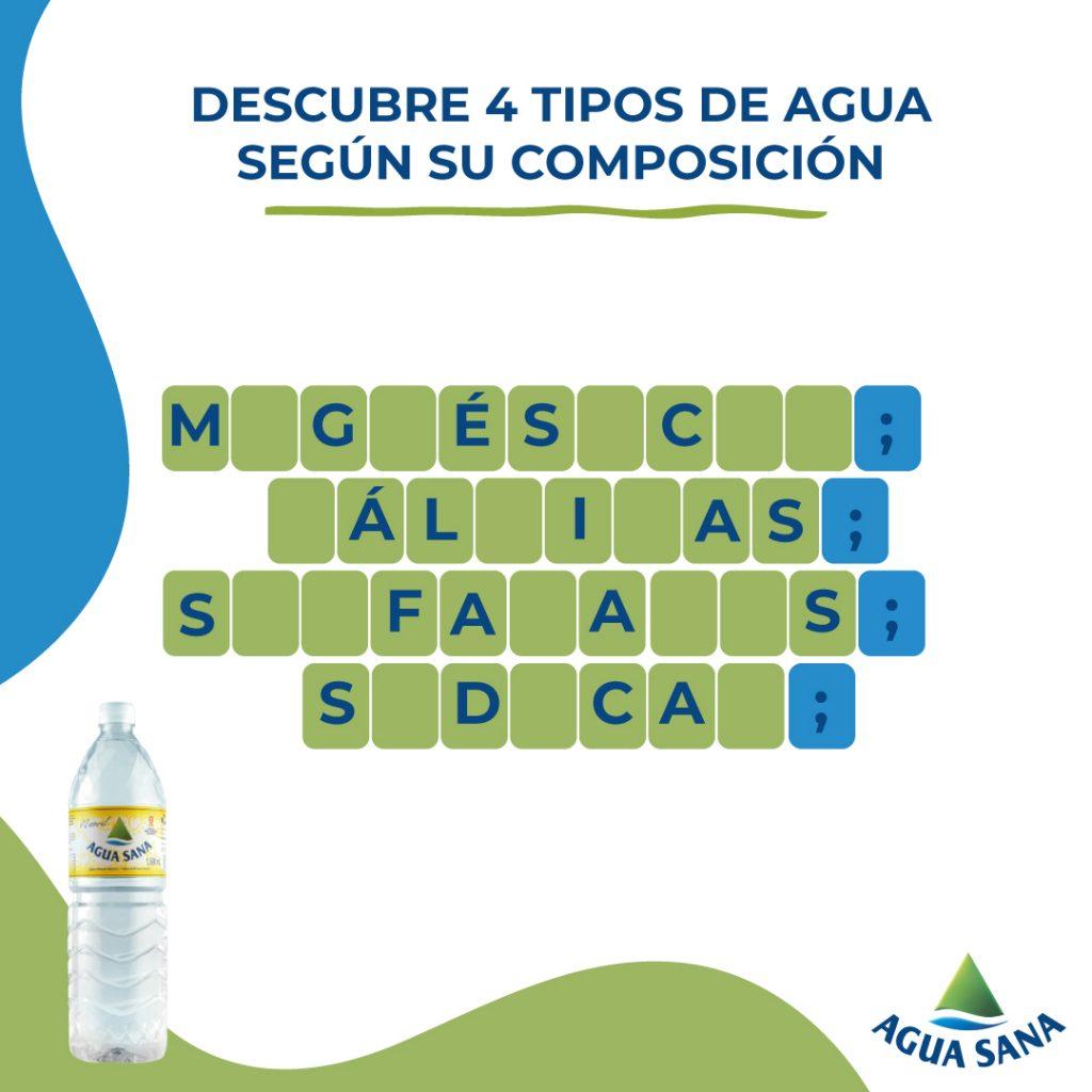 Descubre 4 tipos de agua mineral natural