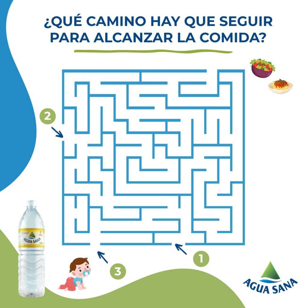 Nuevo laberinto de Agua Sana con comida para niños
