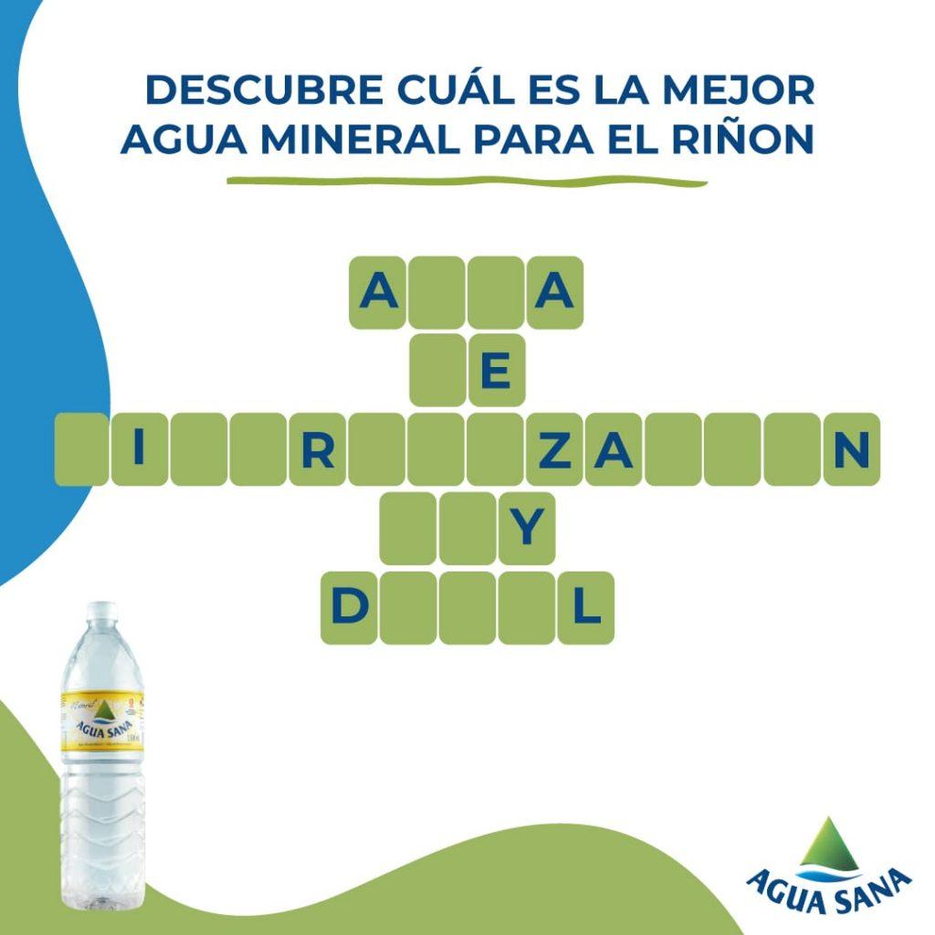 El agua de mineralización muy débil es buena para tus riñones