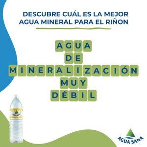 La solución al panel de Agua Sana es agua de mineralización muy débil